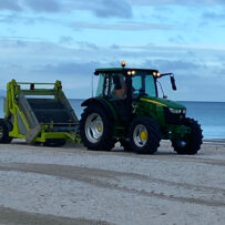 Skyline Landscape Services Beach Tractor The Barber Beach Cleaning